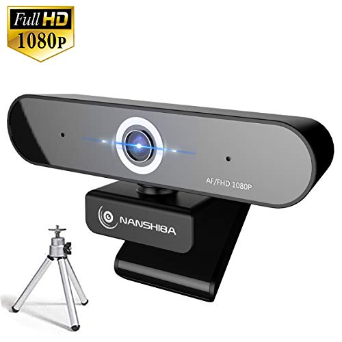 Full 1080P Webcam, Auto Focus Computer Camera, Face Cam with Dual Microphone for PC, Laptops and...