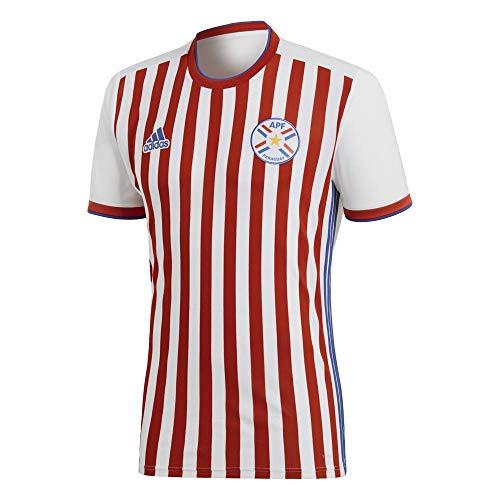 adidas Herren Paraguay Heim Trikot, weiß/rot/blau, L-52/54