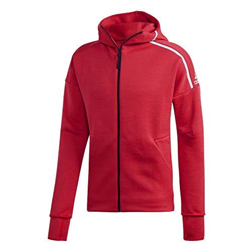 adidas M Zne HD FR Chaqueta con Capucha, Hombre, Rojo (Escarl/Blanco), S
