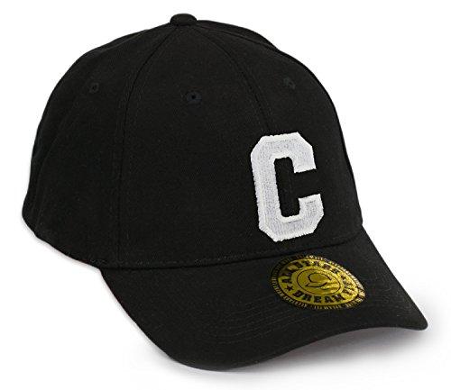 Casquette de Baseball Snap Back Bonnet Cap Chapeau Snapback 3D Gothique A-Z Hip-Hop (C)