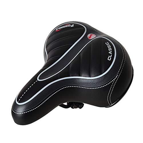 MissSuper Comfort Wide Big Bum Bike Bicycle Gel Cruiser Extra Sporty Soft Pad Saddle Seat