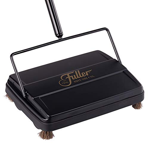 Fuller Brush 17027 Carpet & Floor Sweeper- Mini Stick Cleaner For Hardwood Surfaces, Wood Floors, Laminate, Tile- Small & Portable For The Home Or Office - Cleans Dust Pet Hair- Electrostatic & Silent