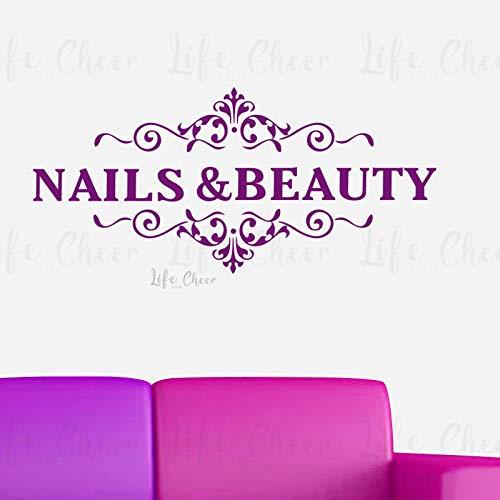 Geiqianjiumai Manicure nagels schoonheid logo muursticker vinyl muur schoonheid studio venster poster nail art decoratieve muurschildering muur