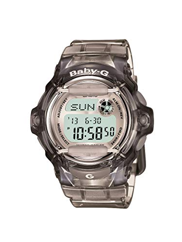 Casio Women's Baby G Quartz Watch with Resin Strap, Gray, 23.4 (Model: BG-169R-8M)