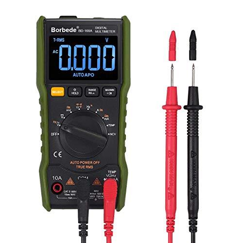 Advanced Digital Multimeter Messgerät, Temperaturmessung Außenleiter-Identifizierung Durchgangsprüfung Hintergrundbeleuchtung,messen AC/DC Spannung, AC/DC Strom, Widerstand