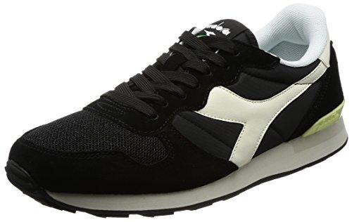Diadora Herren Camaro Sneaker, Schwarz (Nero/Bianco Sospiro), 36.5 EU