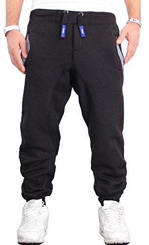RMK Herren Hose Jogginghose Trainingshose Fitnesshose Sweatpants H.03H.03 S Schwarz