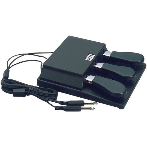 Studiologic VFP310 Triple PianoStyle Open Polarity Sustain Pedal with Mono and Stereo Connector for Keyboards