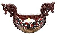 Ebros Gift Ancient Viking Longship Candle Holder Figurine Nordic Viking Age Tea Light Votive Decor