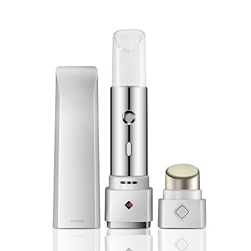Benss Gesichtsnebel-Sprayer mit APP-Test-Haut und bieten Gesichtspflege-Empfehlungen, Außen-UV-Erkennung USB-Lade Gesicht Sprayer Gesicht feuchtigkeitsspendend Spray Facial, Nano Mist Sprayer