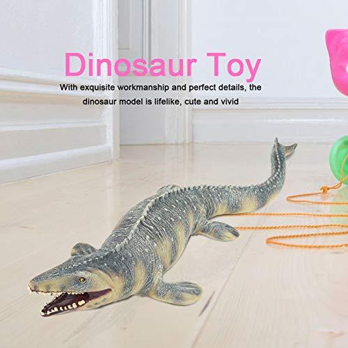FECAMOS Juguete de Dinosaurio Juguete Realista de Modelo Animal Inodoro Mosasaurus para niños Jugar