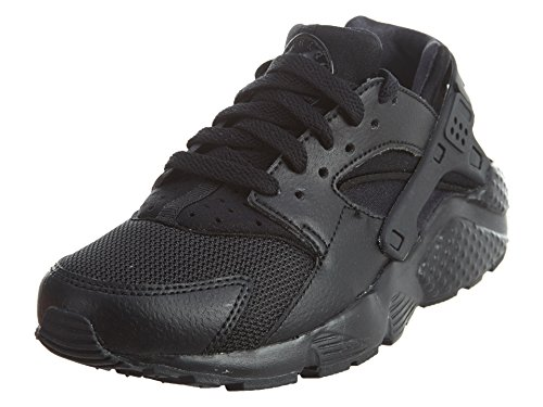 Nike Unisex Huarache Run (GS) Low-Top, Schwarz (016 Black/Black-Black), 40 EU