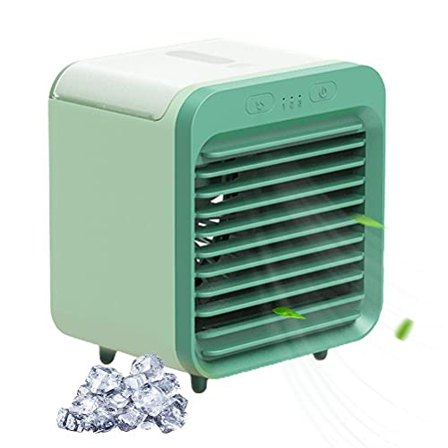 YueWan USB Charging Mini Desk Fan Portable Air Cooler Desk Air Cooling Humidifier for Bedroom Dormitory Travel