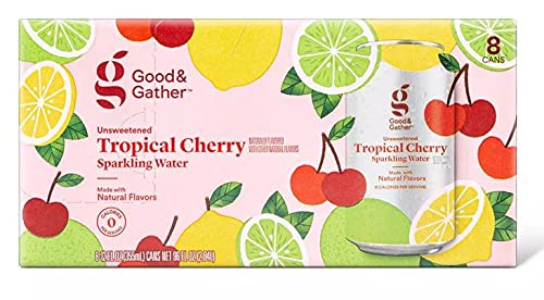 Good Unsweetened 0 Store Cal Natural Cherry All items free shipping Water Tropical Sparkling