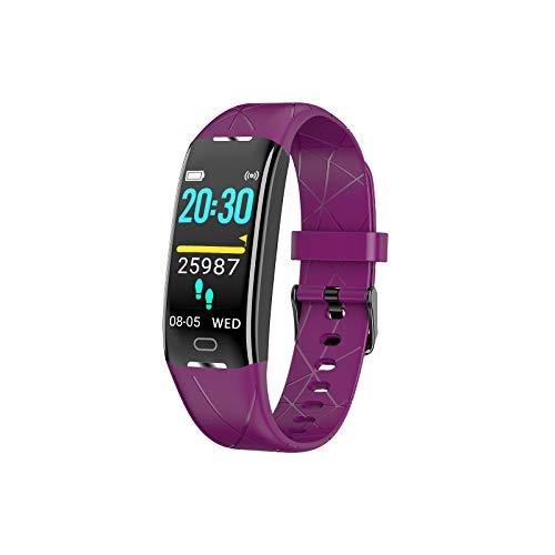 Sonkir Fitness Tracker HR, Aktivitäts-Tracker-Uhr mit Pulsmesser, Schrittzähler, 8 Sportmodi, Kalorienzähler, Schlafmonitor, wasserdichtes IP68-Armband für Android und iPhone (Lila)