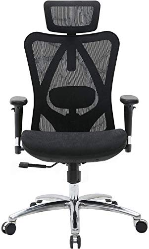 SIHOO Ergonomic Office Chair, Computer Chair Desk Chair High Back Chair Breathable, Skin-Friendly Mesh Chair Adjustable 3D Armrest and Lumbar...