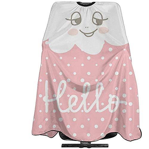 Nette glückliche Wolken-Karikatur auf Friseursalon-Schutzblech des Polka-Topf-Hintergrund- (2), Haar-Schal, passend für Friseursalon oder Haus