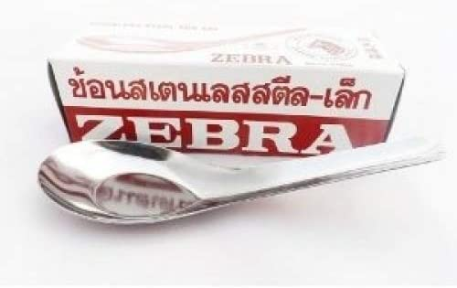 Zebra All items free shipping Spoon Pack of 12 Pcs. discount Chinese Thai Spo Dessert Asian