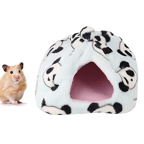 Hamsterbed, panda-vorm Warm hangbed Schattig warm hangmatnest voor suikereekhoorn Rat Cavia Gerbil muizenhamster(L)