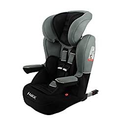 IMAX isofix booster seat, group 1/2/3 for children from 9 to 36kg. It is manufactured and tested in France and approved according to ECE R44/04. The child is held with the 5-point harness from 9 to 22kg, then with the 3-point seat belt from 15kg. It ...