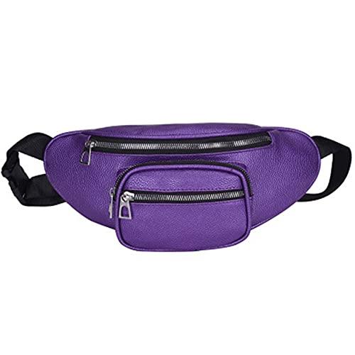 Sebasti Pequeña bolsa de poliuretano para exteriores, bolsillo en la cintura, para hombre, mujer, para correr, gimnasio, senderismo, 33 x 15 cm