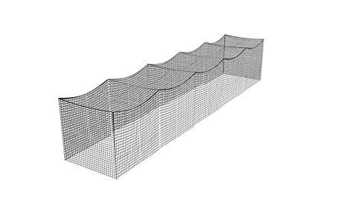 21 Gauge Nylon 12x12x70 Batting Cage (NET ONLY)