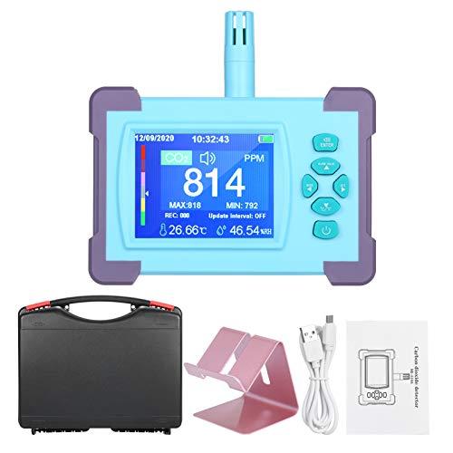 CO2-Messgerät Kecheer CO2 Messgerät Raumluft mit Akku CO2 Meter Tester für Luftqualitäts Detektor Monitor mit Temperatur/Feuchtigkeits-Monitor mit Aufbewahrungskoffer 【Version 2020】