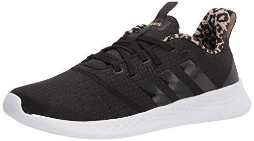 adidas Women's Puremotion Running Shoe, Black/Black/Cardboard, 10.5