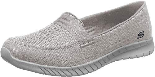 Skechers Wave Lite Side by Side Mocasines sin cordones para mujer, gris (gris), 37 EU