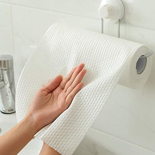 50 paños de cocina lavables, desechables, toallitas de limpieza, trapos de limpieza reutilizables, paños de limpieza, paquete desmontable, esponja de limpieza, limpieza de cocina húmeda y seca