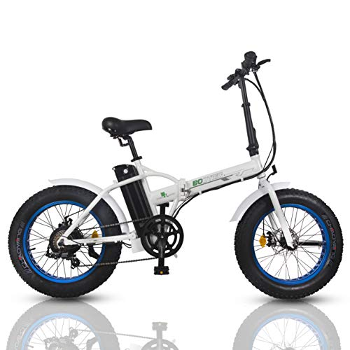 ECOTRIC Fat Tire Folding Electric Bike 36V 12Ah Removable Lithium Battery Beach Snow Bicycle 20' Ebike 500W Electric Moped Electric Mountain Bicycles