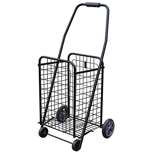daily supplies Folding Shopping Cart Portable Day Grocery Cart, Senior Shopping Lightweight Sundry Cart Luggage Trolley Can Climb Stairs,for Shopping Malls/Mall Warehouses/KTV Shopping Trolleys
