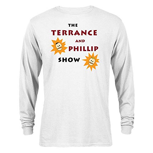 South Park The Terrance and Phillip Show Long Sleeve T-Shirt - White - Small