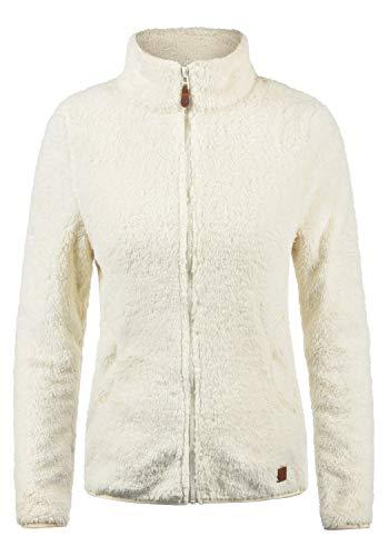 DESIRES Telsa Damen Fleecejacke Teddyfleece Zip-Jacke Sweatjacke Mit Stehkragen Und Taschen, Größe:XS, Farbe:Vanilla IC (0116)