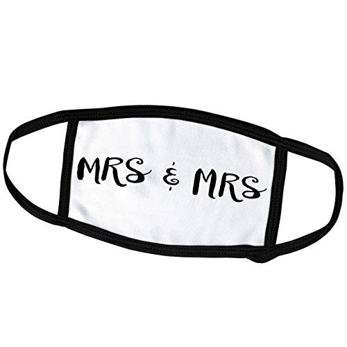 3dRose BrooklynMeme Wedding - Mrs. and Mrs. - Face Masks (fm_253107_1)