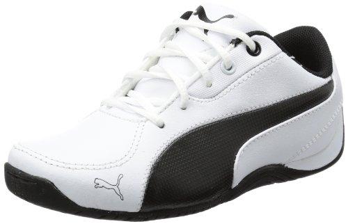PUMA Drift Cat 5 L Jr 304609, Unisex-Kinder Sneaker, Weiß (White-Black 02), EU 39 (UK 6) (US 7)