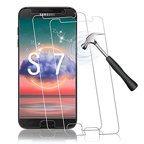 Shalwinn Schutzfolie für Samsung Galaxy S7 Panzerglas,2.5D Arc Edge HD Klar Panzerfolie,Anti-Kratzen,Anti-Fingerabdruck,Blasenfrei Panzerglasfolie,2 Stück Einfache Installation Displayschutzfolie