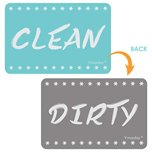 Yinuoday Spülmaschinenmagnet sauberes schmutziges Zeichen passend für Allen stärksten Magneten der Spülmaschine Doppelseitiger Schlag schmutziges sauberes Spülmaschinenmagnetzeichen