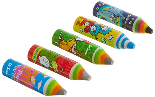 Raymond Geddes Dr. Seuss Crayon Eraser 24/Bag Eraser (70486)