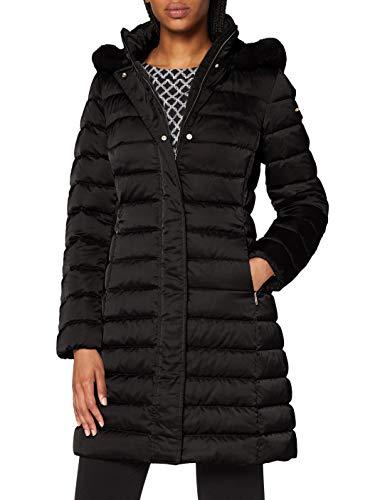 Geox W Bettanie Manteau-Duvet Femme, Noir (Black F9000), 46 (Taille fabricant:50)