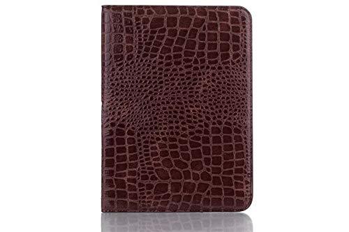 QiuKui Tab Funda para Samsung Galaxy Tab 10.1 4 Pulgadas, cocodrilo patrón de Lujo del Cuero de la Caja Cubierta Elegante del Soporte para la lengüeta 4 10.1 Pulgadas T530 T531 T535 (Color : Marrón)
