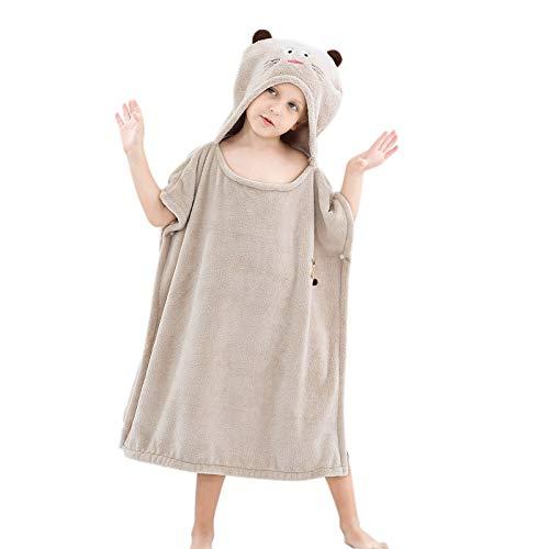 WoCart Toalla de baño con capucha para niños, toalla de bebé, ultra suave, para niños, con capucha, toalla de baño, toalla de playa, regalo para bebés y niños de 3 a 12 años