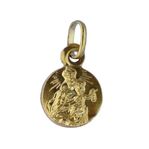 SACRE COEUR - Escapulario Sagrado Corazón y Vírgen del Carmen | Oro 18 Quilates | 12 x 12 mm | Grabado por Las Dos Caras