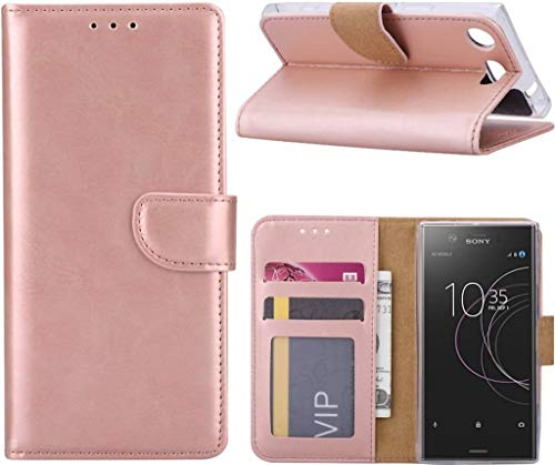 Sony Xperia XZ1 Compact Portemonnee hoesje/book case Rose Goud