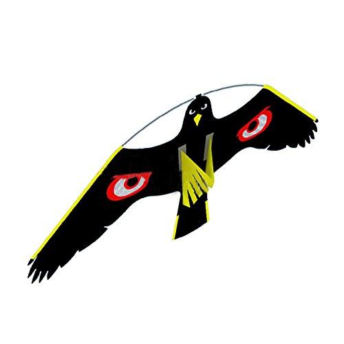 Cutogain Ahuyentador de pájaros, kit de cometa de halcón volador para espantapájaros jardín patio decoración de casa