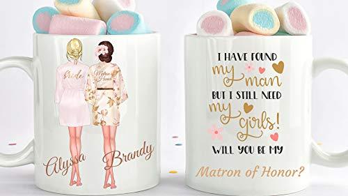Bridesmaid Proposal Mug Will You Be My Matron Of Honor Mug, Matron Of Honor Gift Custom Bridesmaid Maid Of Honor Proposal - 11 Ounce