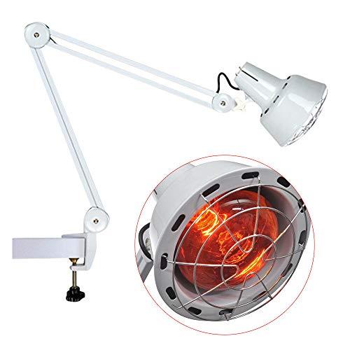 Infrarotlampe, rotlichtlampe wärmelampe Infrarot-Wärmestrahler Rotlicht Strahler Infrarotlichttherapie, 275W