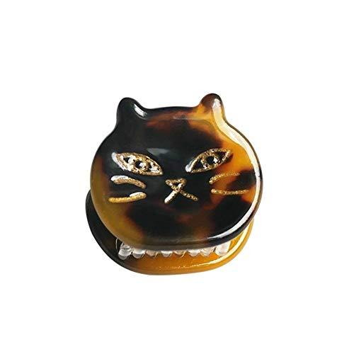 Yuhualiyi123 4pcs Haar Greifer - 2cm Cartoon Styling Grip Pin Haken - 4 Verschiedene Pastellfarben (Color : Black Brown)
