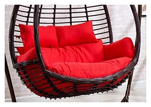 BDBT Swing Chair Cushion Double Egg Hammock Chair Pads, Swing Chair Cushion Pad for Indoor Outdoor Garden Hanging Basket Chair, 110x150cm (Color : Red)
