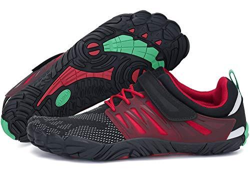 Badeschuhe Damen Barfussschuhe Outdoor Sommer Aqua Schuhe Atmungsaktiv rutschfest Schnellverschlüsse Frauen Traillaufschuhe Rot 39